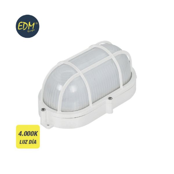 APLIQUE OVAL REJILLA EXTERIOR LED 9W IP65 4000K