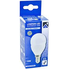 LAMPARA ESFERICA LED E27 10W 6000K